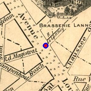 Avenue Louise - Vieux plan