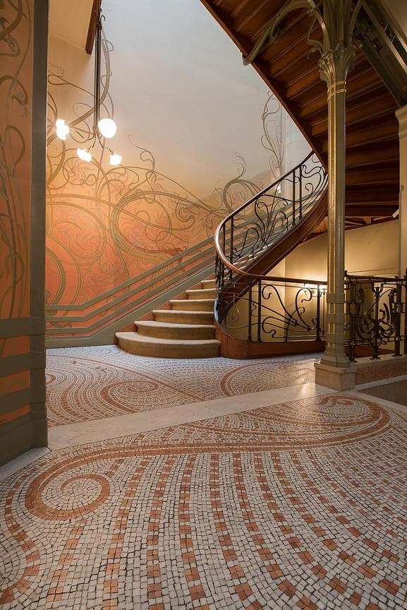 stairs hotel tassel