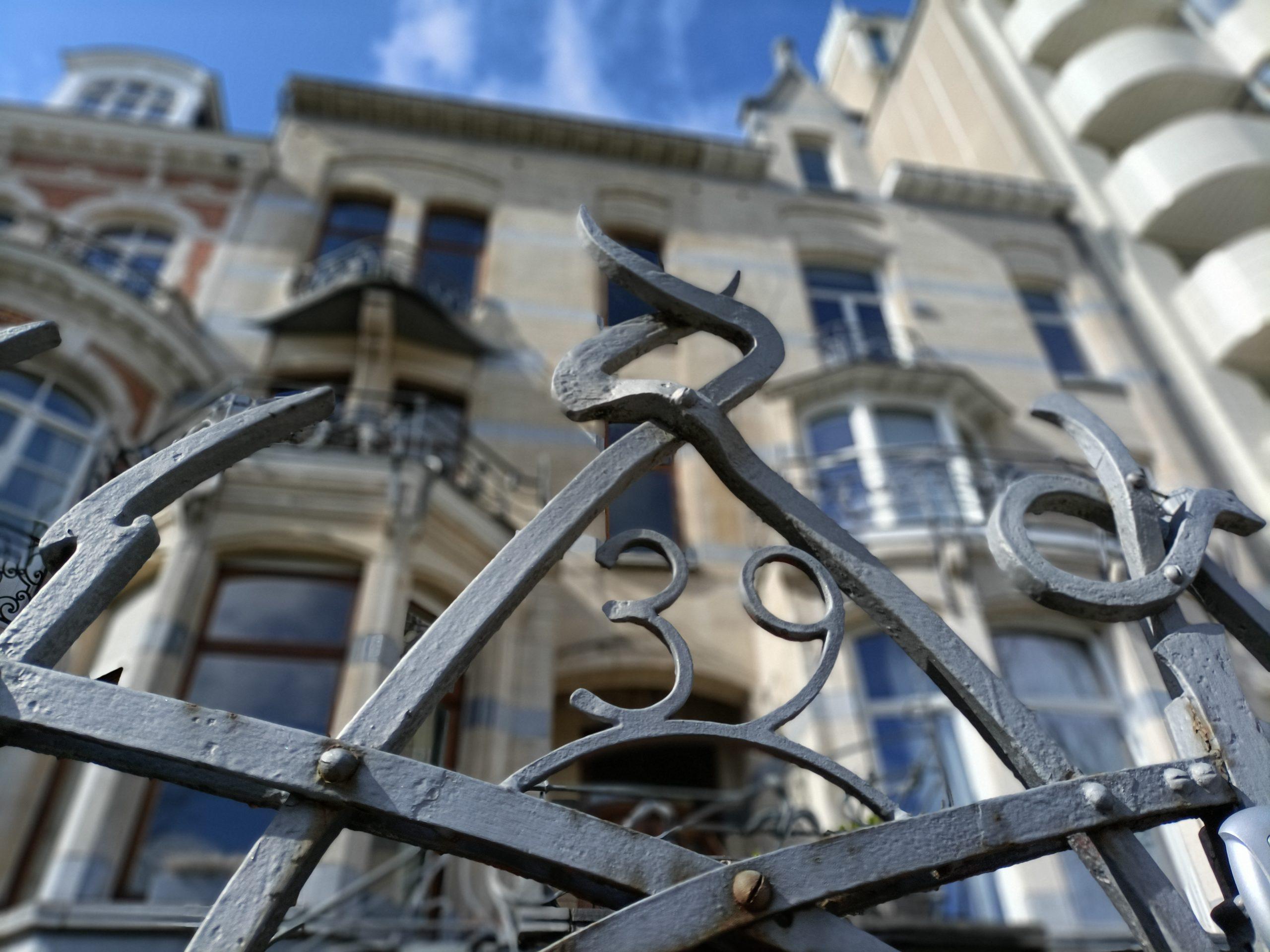 art nouveau house in ixelles